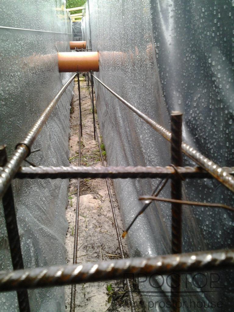монтаж ленточного фундамента под каркасный дом