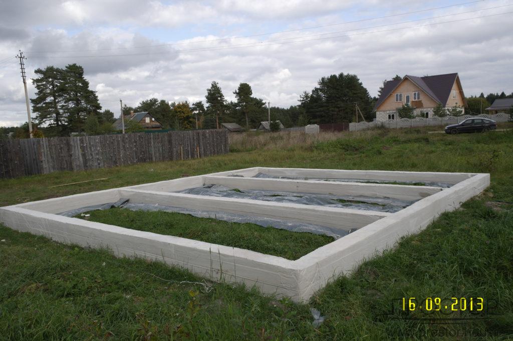 фундамент для каркасного дома