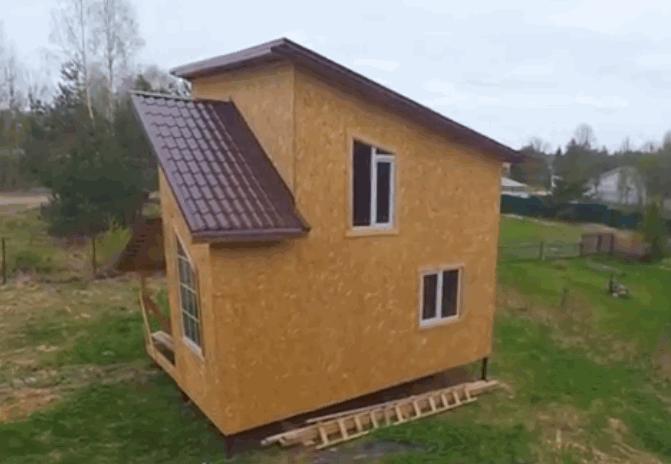 какркасное строение дома