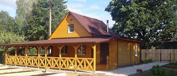 строительство деревянный домик для дачи