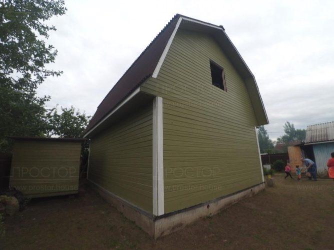 Покраска деревянного дома - Простор