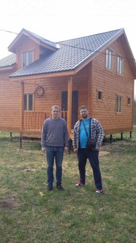 Покрасить брусовой дом недорого