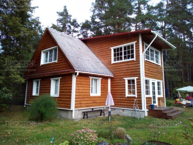 стоимость покраски деревянного фасада