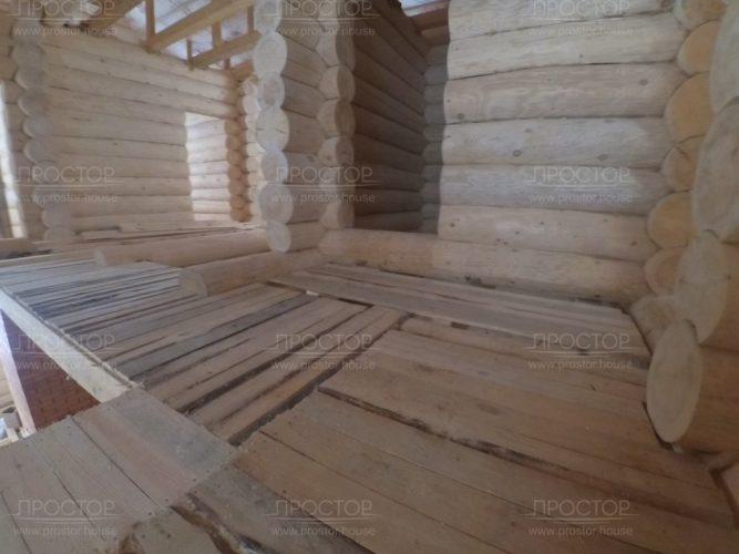 внутренняя отделка дома из бревна - Простор