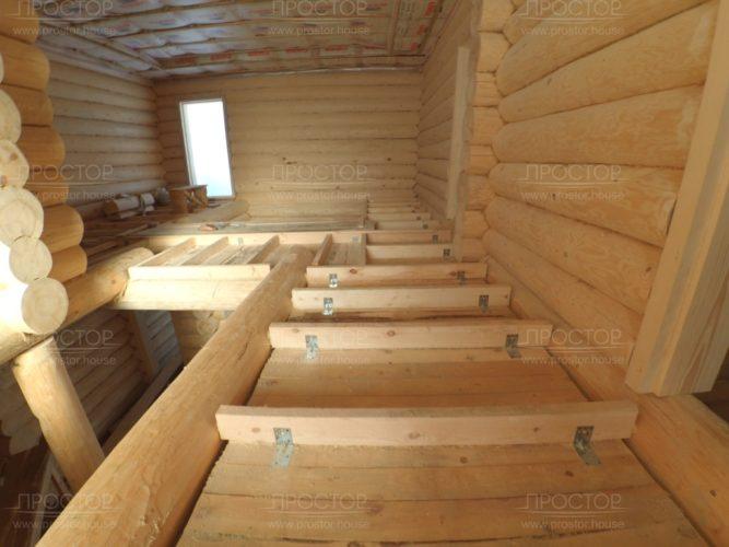 отделка дома из бревна внутри - Простор