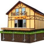 Винтовые сваи для фундамента каркасного дома