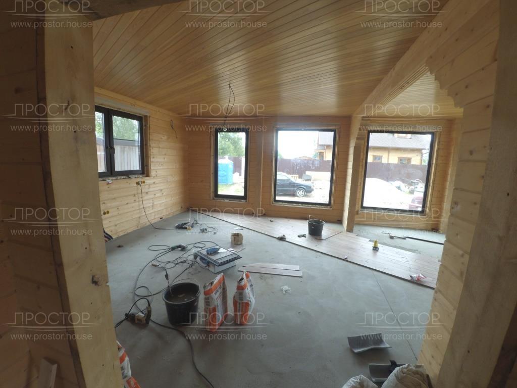 укладка плитки на пол в деревянном доме - Простор
