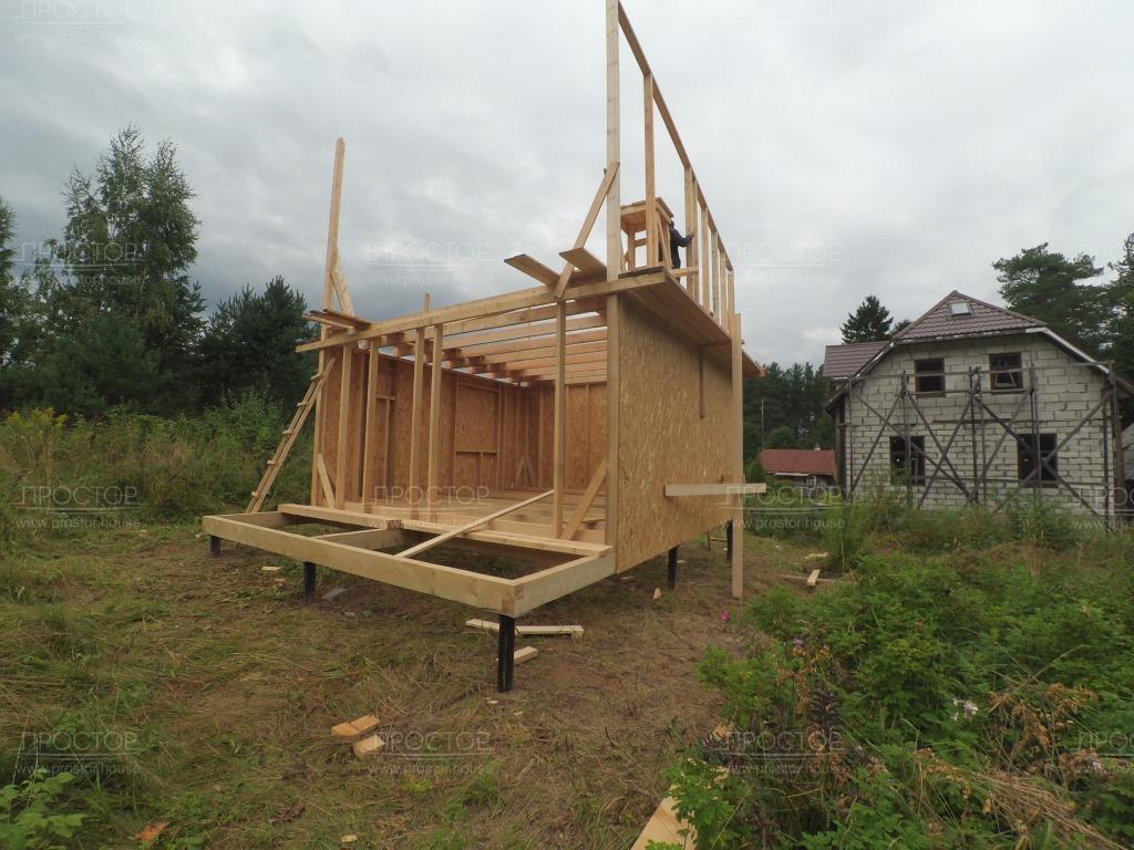 Построить двухэтажный каркасный дом фото - Простор