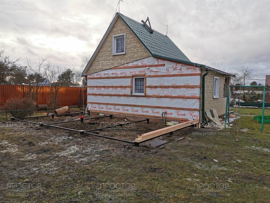 Пристройка к деревянному дому из бруса - Простор