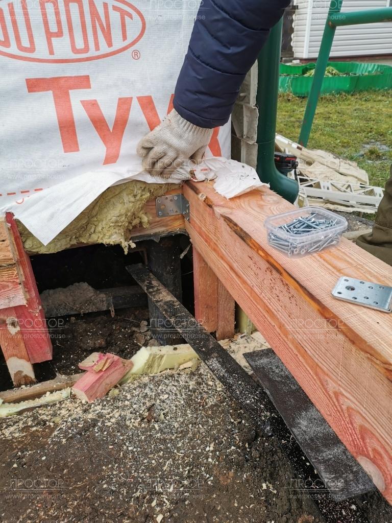 Крепление пристройки к деревянному дому - Простор