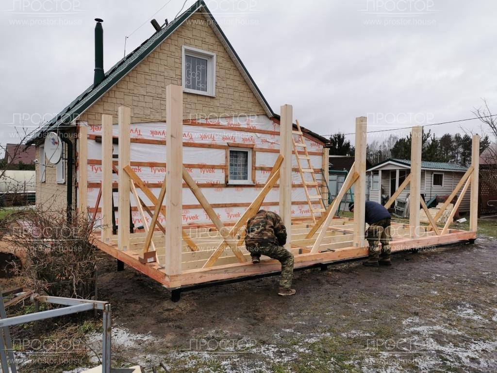 Пристроить пристройку к деревянному дому - Простор