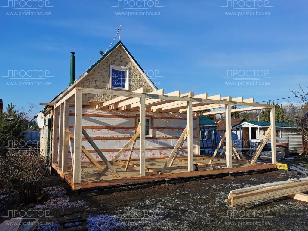 Пристройка к деревянному дому недорого - Простор