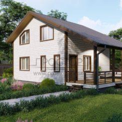 Каркасный дом 7х9 двухэтажный-Простор