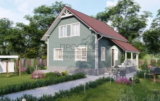 Каркасный дом 7х9 с мансардой-Простор