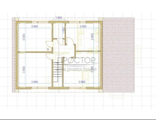 Каркасный дом 7х9 планировка с террасой-Простор