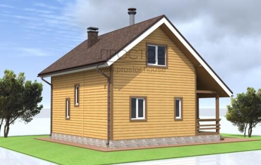 Каркасный дом 6х8 одноэтажный с мансардой-Простор