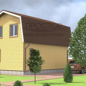 Каркасный дом 6х9 недорогой-Простор