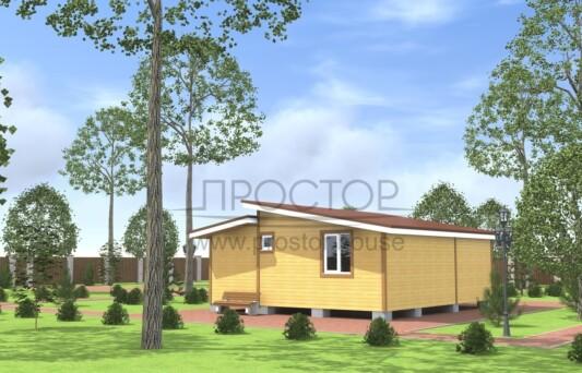 Строительство каркасного дома СПб 7х4-Простор