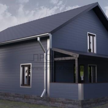 Каркасный дом 8х11 под ключ-Простор