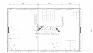 Каркасный дом 8х11 проект-Простор