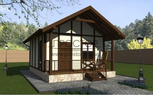 Строительство каркасного дома 5х7-Простор
