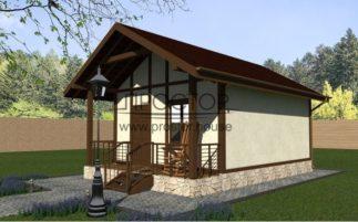Строительство каркасного дома 5х7 СПб-Простор