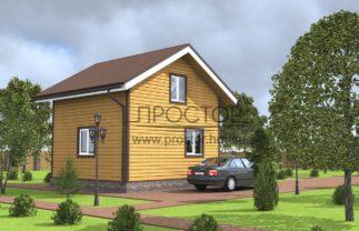 Строительство каркасного дома 6х5-Простор