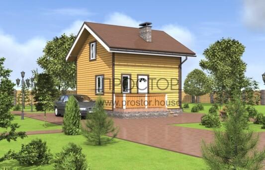 Строительство каркасного дома 6х5 СПб-Простор