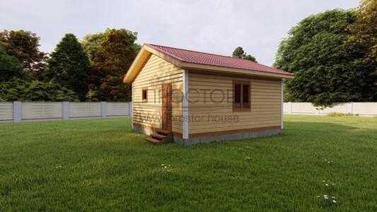 Каркасный дом 6х6 одноэтажный-Простор