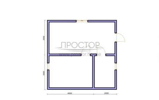 Каркасный дом 6х6 проект-Простор