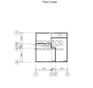 Строительство каркасного дома 6х5 проект 2 этаж-Простор