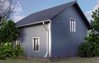 Каркасный дом 9х9 одноэтажный-Простор