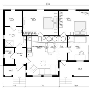 План дома 9х12 - Простор