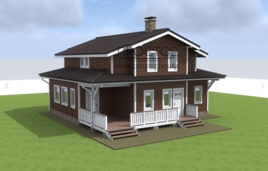 Полутораэтажный каркасный дом 10х11 - Простор