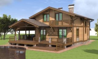 Строительство каркасного дома 11,5 на 13 в СПб- Простор