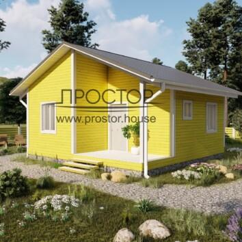 Строительство дома 7на7 с верандой - Простор