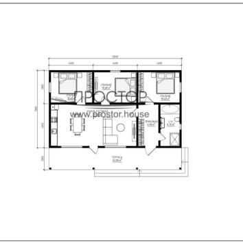 Удобный каркасный дом 12на7 - Простор