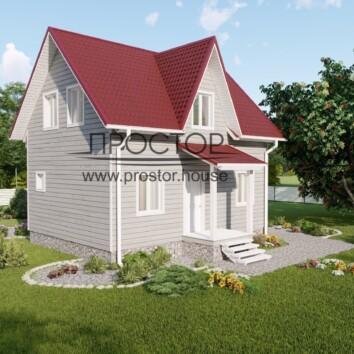 Красивый каркасный дом 6на8 построим в СПб - Простор